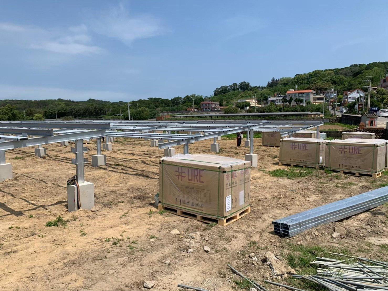太陽光電電廠施工